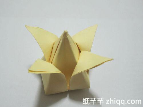 郁金香花的折法图解_郁金香折纸步骤图解-纸千千