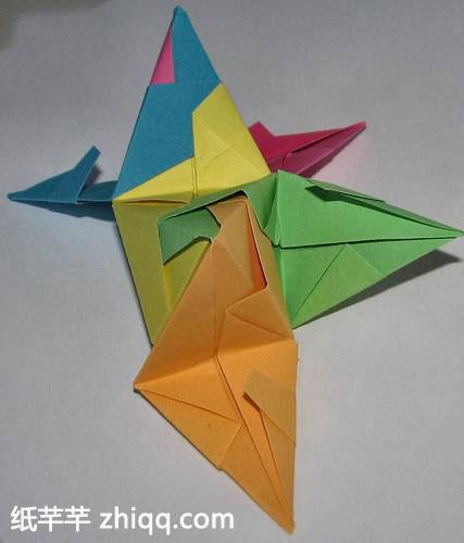 立体构成折纸星星步骤图解