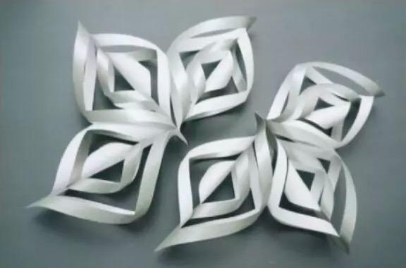 【3d立体雪花】剪纸步骤图解大全