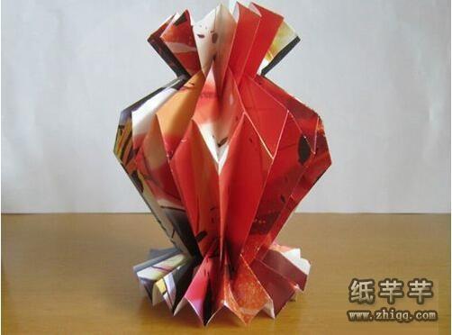 手工【立体花瓶折纸】步骤图解