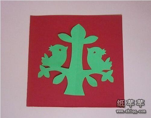 儿童【树和小鸟】手工剪纸教程