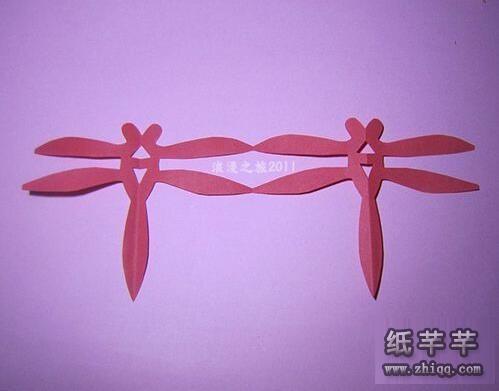 蜻蜓剪纸图案_【手工剪纸蜻蜓】教程方法-纸千千