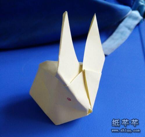 吹气【立体小兔子折纸】教程