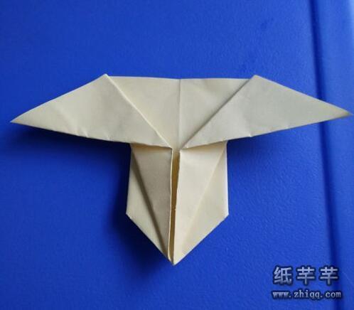 变成下图 简单可爱的小兔子折纸方法,喜欢动物折纸的朋友一定会很喜欢