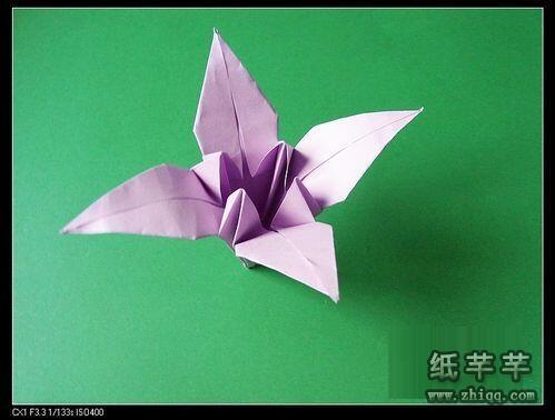 百合花折纸步骤图解-手工百合花折纸视频教程