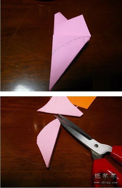 折纸【梅花剪纸】教程步骤图解