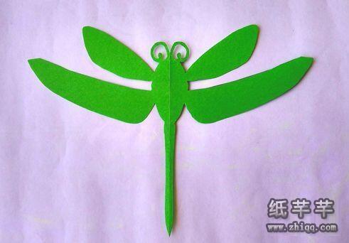 蜻蜓剪纸图案_儿童【蜻蜓剪纸】图案教程-纸千千