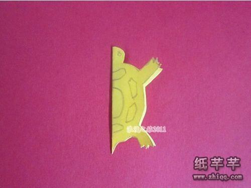【乌龟剪纸】图片步骤 怎么剪