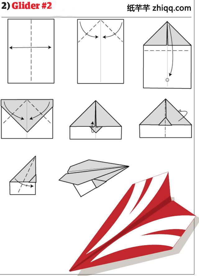儿童折纸大全折 纸喷气式飞机和折纸喷射机折纸图解教程图片