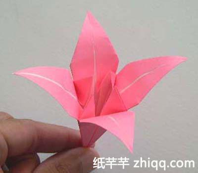【百合花】的折纸方法和图解