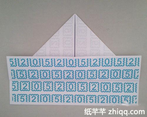军舰手工折纸船方法图解