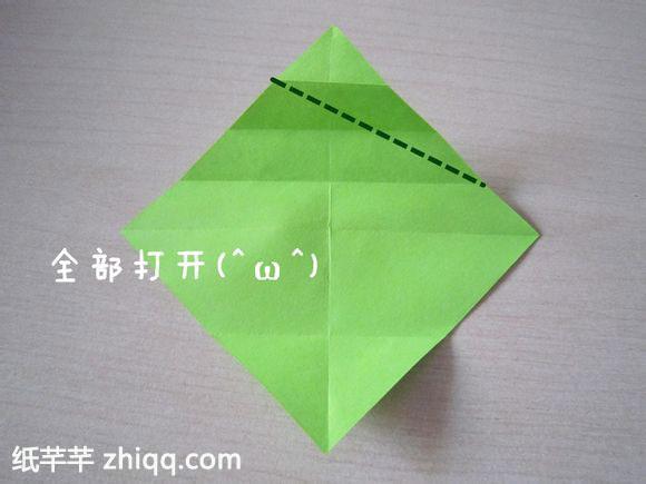 【领带心折纸】方法图解教程
