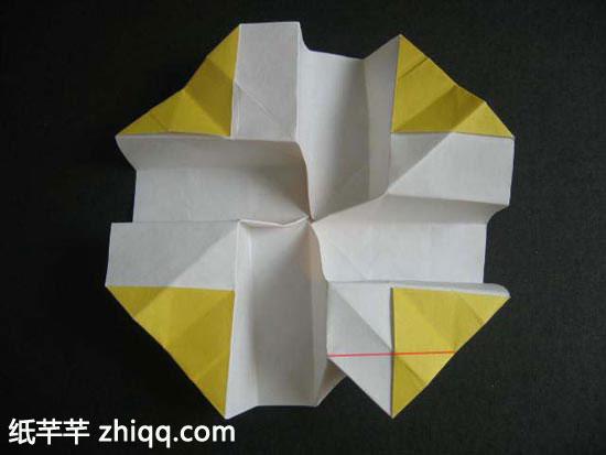 川崎玫瑰的折法图解教程完整版