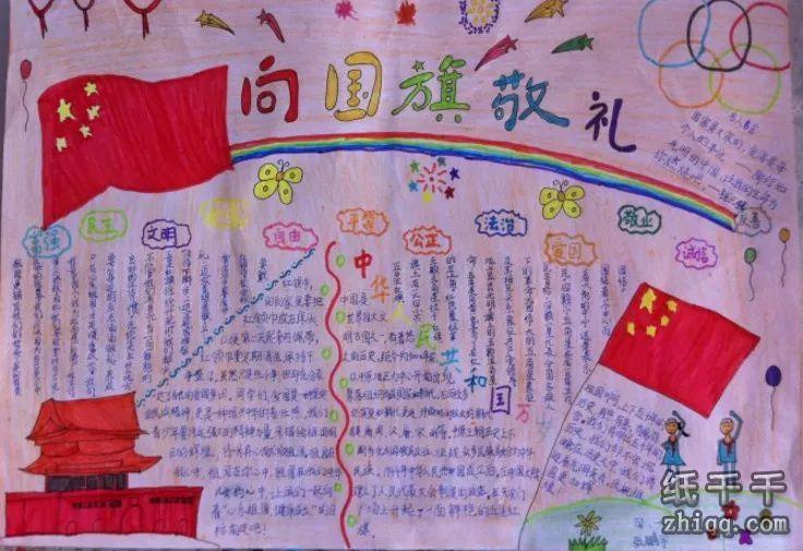 """今年国庆期间,我校组织全体同学开展""""向国旗敬礼,做一个有道德的人"""""""